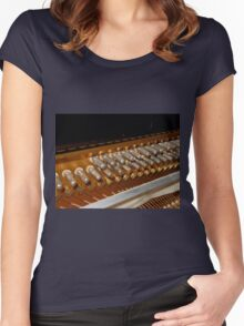 Points of Attachment - Inside The Piano Women's Fitted Scoop T-Shirt