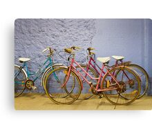 Old Bikes Canvas Print