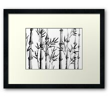 Black and white bamboo forest Framed Print