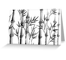 Black and white bamboo forest Greeting Card