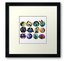 Animal Cartoon Framed Print