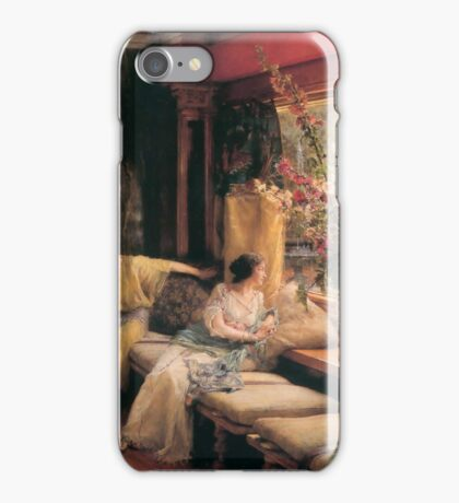 vain-courtship- by Lawrence Alma-Tadema iPhone Case/Skin