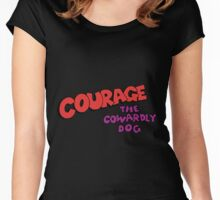 Courage the Cowardly Dog  Logo Women's Fitted Scoop T-Shirt