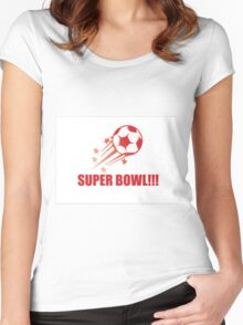 exciting sport of football Women's Fitted Scoop T-Shirt