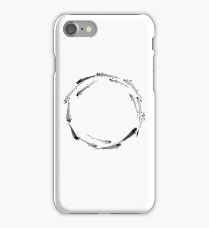 Sumi ink fishes enso iPhone Case/Skin