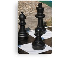 chess outdoors Canvas Print