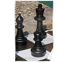 chess outdoors Poster