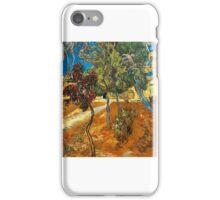 Vincent van Gogh, trees in the garden of the asylum iPhone Case/Skin