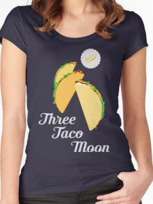 Three Taco Moon Women's Fitted Scoop T-Shirt