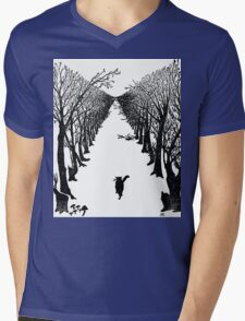 The Cat Who Walks By Himself Mens V-Neck T-Shirt