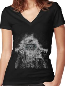 LOST IN MARS Women's Fitted V-Neck T-Shirt