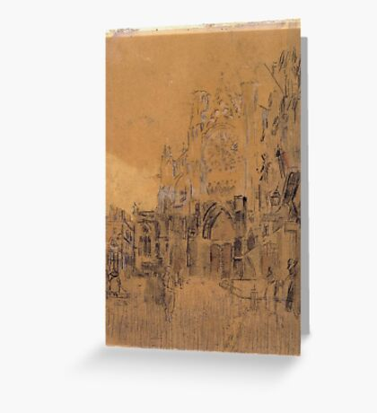 Walter Richard Sickert,   , Dieppe, Study No. 2; Facade of St Jacques Greeting Card