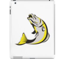 Barramundi Fish Jumping Up Isolated Retro iPad Case/Skin