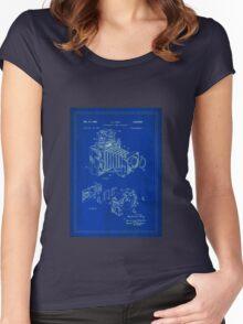 TIR-Camera 1 - Blue Women's Fitted Scoop T-Shirt