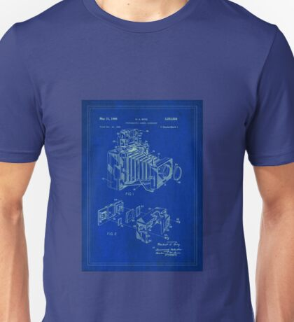 Patent Image - Camera 1 - Blue Unisex T-Shirt