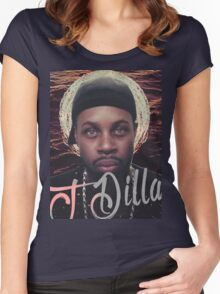 J Dilla - Jmadera print Women's Fitted Scoop T-Shirt