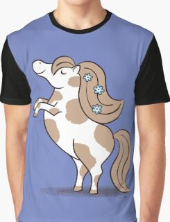Tiny Horse Rearing - brown and white Graphic T-Shirt