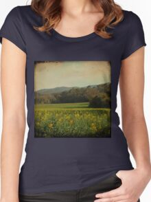 Once Upon a Time a Field of Flowers Women's Fitted Scoop T-Shirt