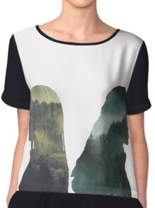 Clexa - The 100 - Forest Back Chiffon Top