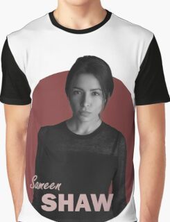 Shaw - Person of Interest - B&W Graphic T-Shirt