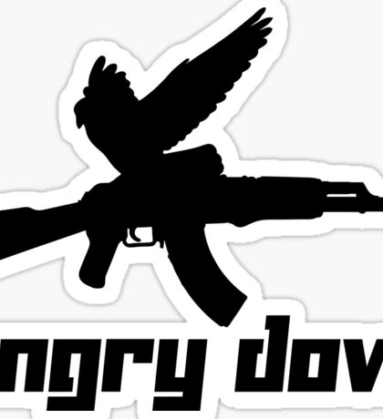 Angry Dove Sticker