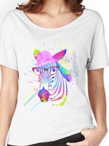 Funky neon zebra Women's Relaxed Fit T-Shirt