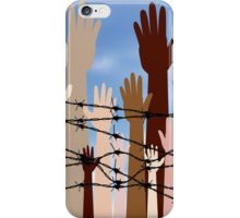 Hands Behind a Barbed Wire 2 iPhone Case/Skin