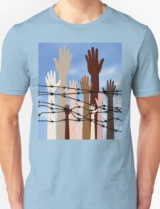 Hands Behind a Barbed Wire 2 T-Shirt