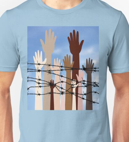 Hands Behind a Barbed Wire 2 Unisex T-Shirt