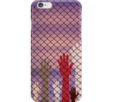 Hands Behind a Wire Fence iPhone Case/Skin