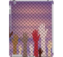 Hands Behind a Wire Fence iPad Case/Skin