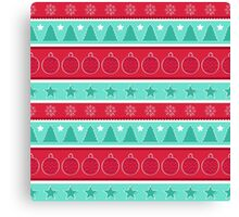 Striped Christmas Pattern Canvas Print
