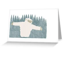 Yeti Hug Greeting Card