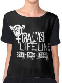 Trans Lifeline design by Iria Villalobos Chiffon Top