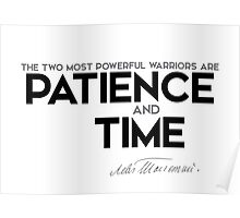 patience and time - leo tolstoy Poster