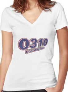 0310 Los Angeles Women's Fitted V-Neck T-Shirt