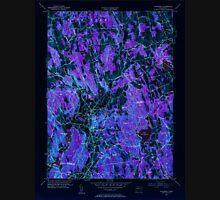 USGS TOPO Map Connecticut CT Woodbury 461085 1955 31680 Inverted Unisex T-Shirt