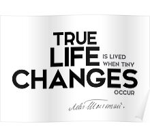 true lyfe: changes - leo tolstoy Poster
