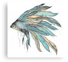INDIAN feather Canvas Print