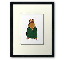 Cosy Bunny Framed Print