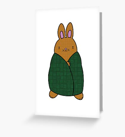 Cosy Bunny Greeting Card