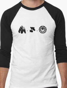 Bears + Beets + Battlestar Galactica (Black on White) Men's Baseball ¾ T-Shirt