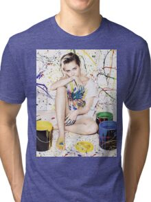 Miley Cyrus – Elle UK Magazine PhotoShoot Tri-blend T-Shirt