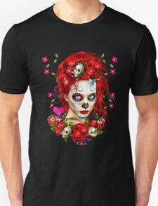 Sugar Doll Red Dia De Muertos T-Shirt