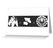 Bears + Beets + Battlestar Galactica (White on Black) Greeting Card