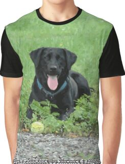 Loki - Black Labrador Graphic T-Shirt