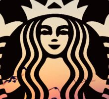 Starbucks Sunset by Creachel Sticker