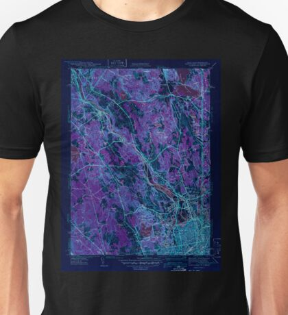 USGS TOPO Map Rhode Island RI Pawtucket 353435 1938 31680 Inverted Unisex T-Shirt