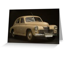 retro car on a black background Greeting Card