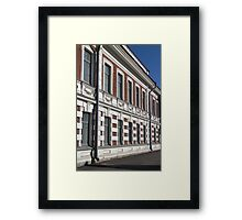 house facade in classical style Framed Print